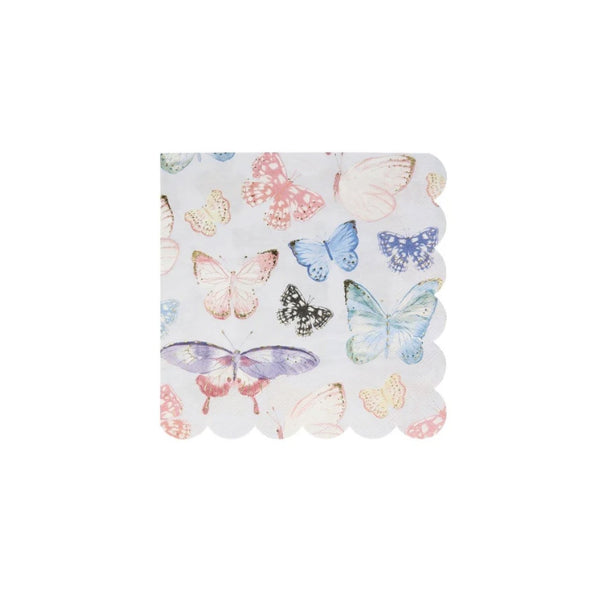 Gold Foil Butterfly Party Napkins