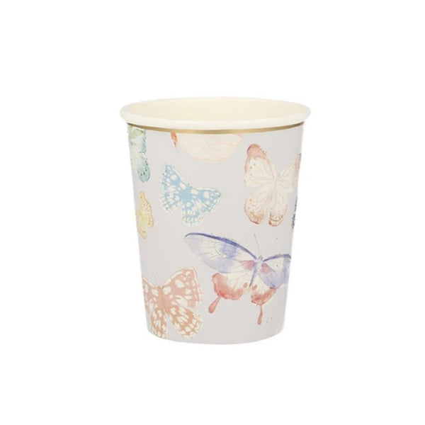 Gold Foil Butterfly Party Cups