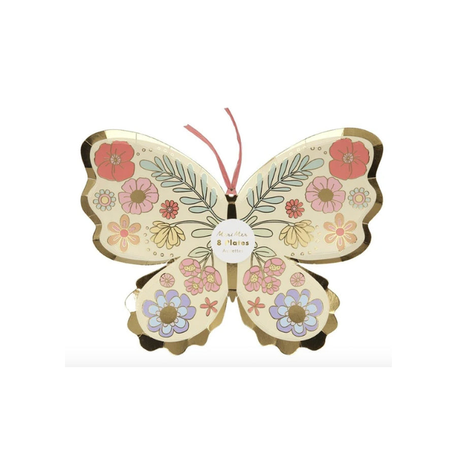 Floral Butterfly Party Plates