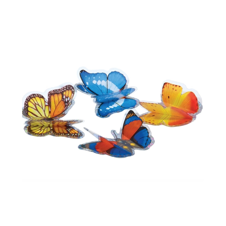 Shimmering Butterfly 3D Stickers