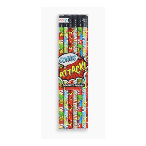 Comic Attack Pencil Set