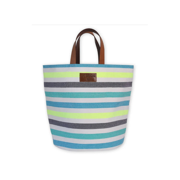 El Dani Striped Bucket Bag