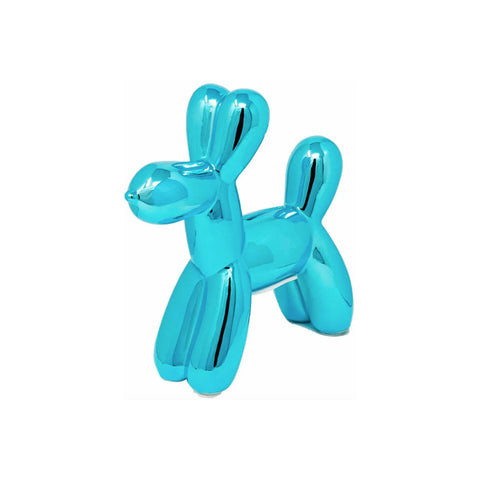 Turquoise Gloss Balloon Dog Coin Bank