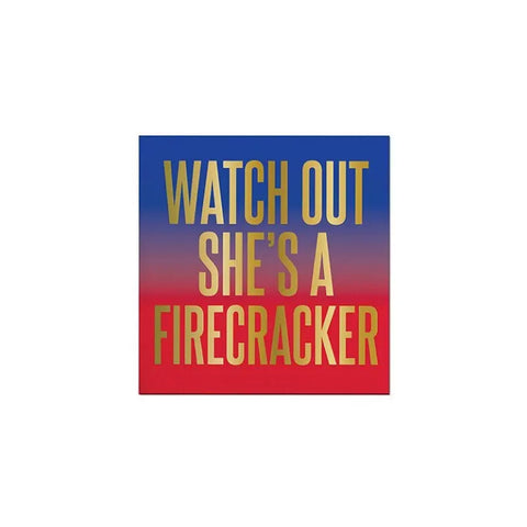 She's a Firecracker Cocktail Napkins
