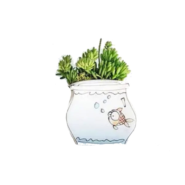 Fishbowl Ceramic Planter