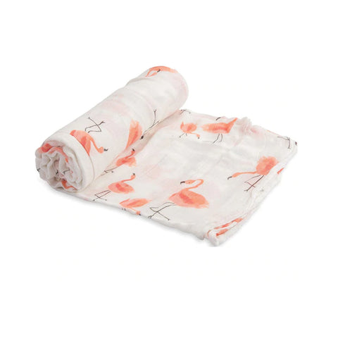 Pink Flamingos Swaddle Blanket