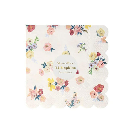 Lovely English Garden Cocktail Napkins