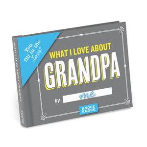 What I Love About Grandpa Fill-In Journal