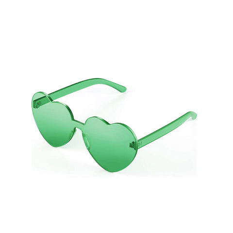 Leprechaun Love Green Heart Glasses