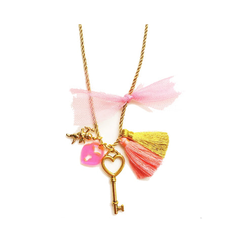 Valentines My Heart Charm Necklace