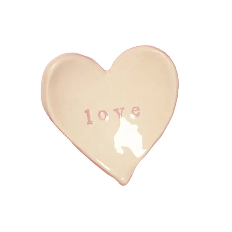 Love Heart Shaped Ceramic Dish