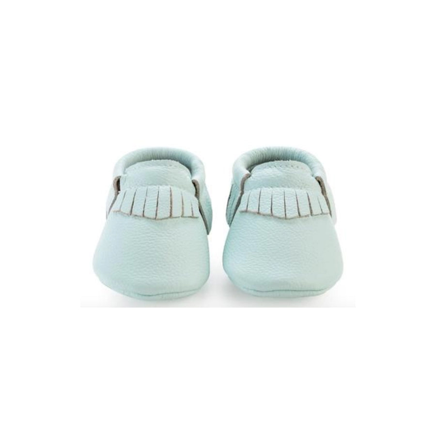 Mint Green Baby Moccasins