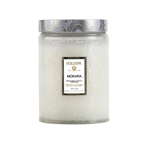 Mokara Orchid Embossed Jar Candle