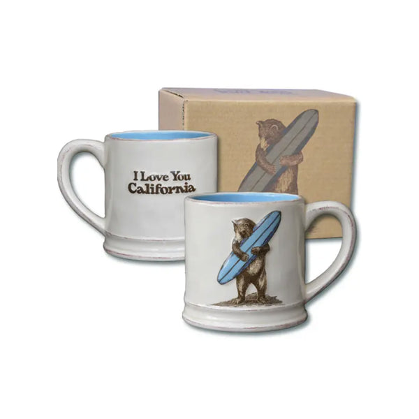 California Surf Bear Ceramic Mug