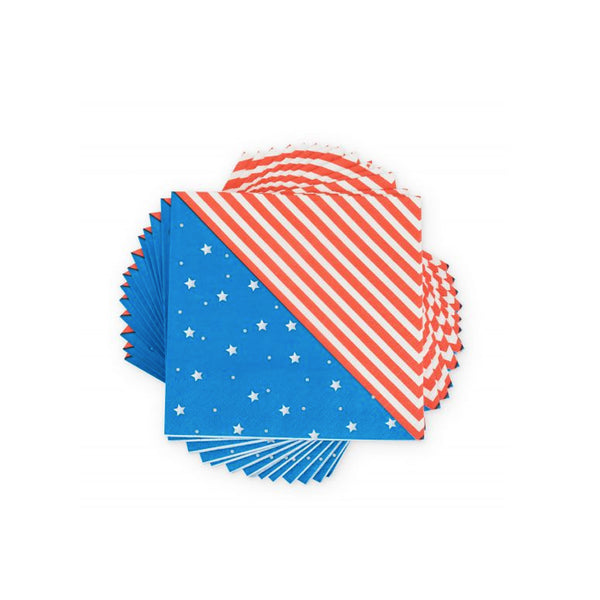Stars and Stripes Cocktail Napkins