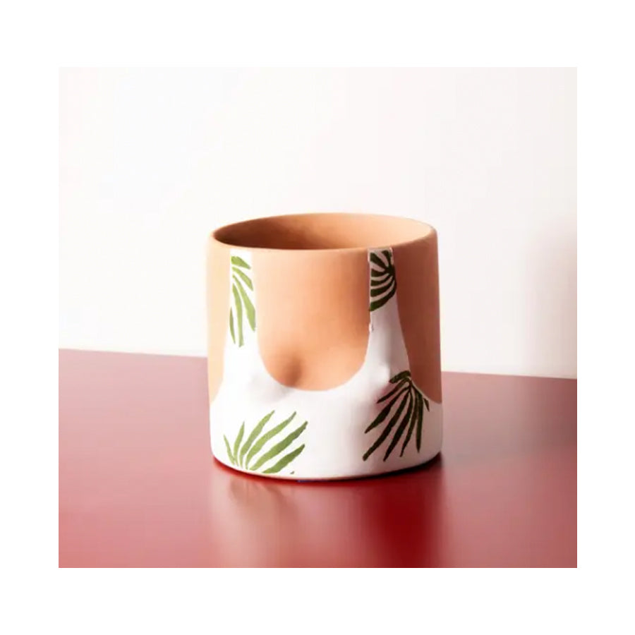 Palm Swimsuit Terracotta Planter