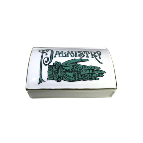 Palmistry Ceramic Lidded Box