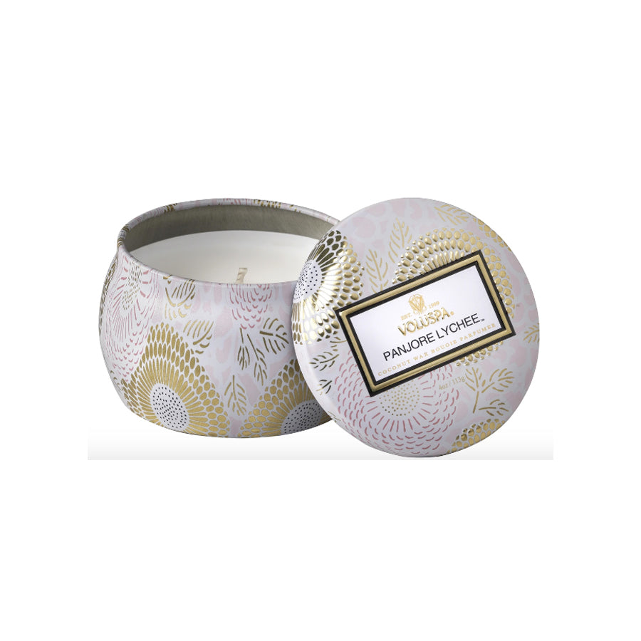 Panjore Lychee Embossed Jar Candle