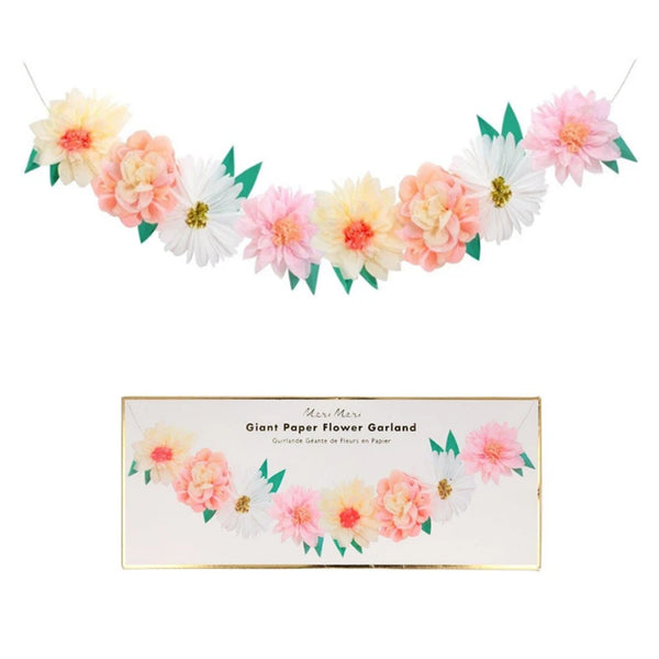 Spring Flowers Giant Tissue Paper Garland