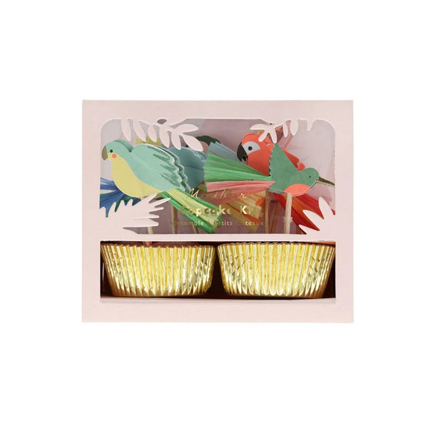 Tropical Bird Cupcake Kit