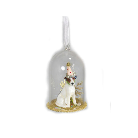 Party Puppy Christmas Ornament
