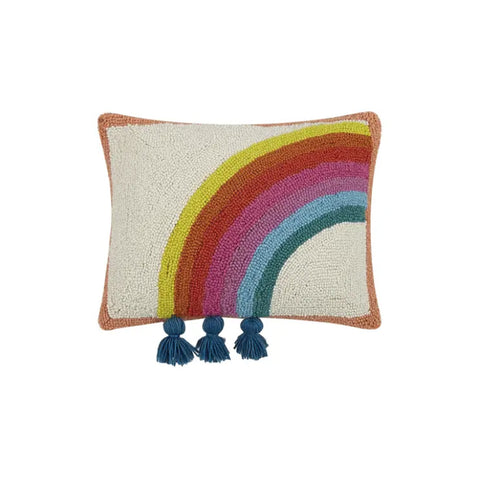 Rainbow Tassel Hook Pillow