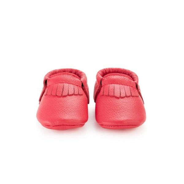 Hibiscus Red Baby Moccasins