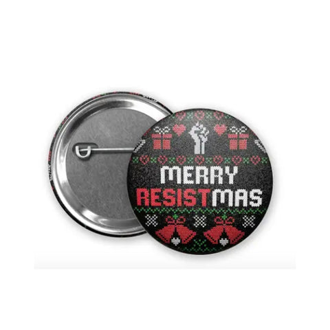 Merry Resist-mas Christmas Button