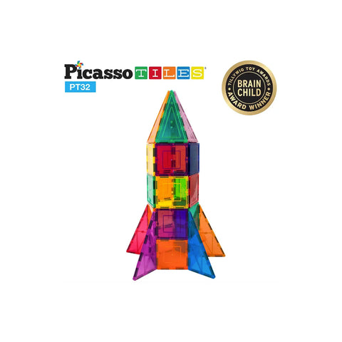 Picasso Tile Rocket Set - 32 Pieces