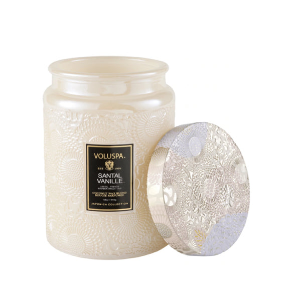 Santal Vanilla Embossed Mini Candle
