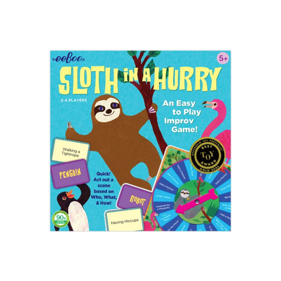 Sloth in a Hurry Charades Action Game