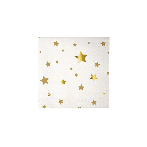 Gold Star Cocktail Napkin