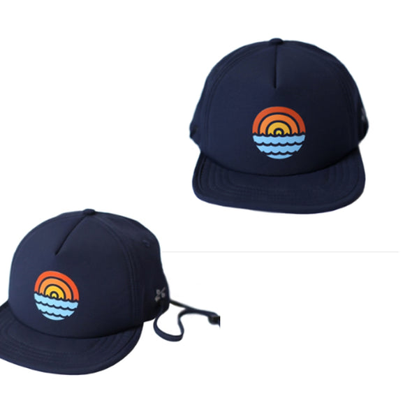Navy Sunset Bitty Brah Kid's Sun Hat