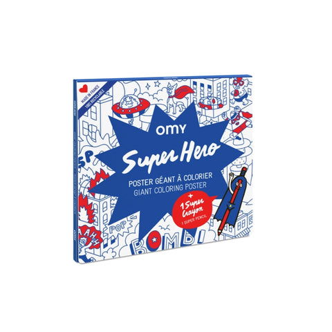 Super Hero Giant Coloring Poster