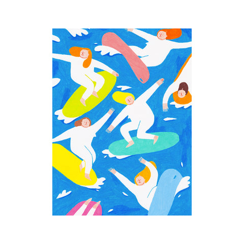 Beach Girls Art Print