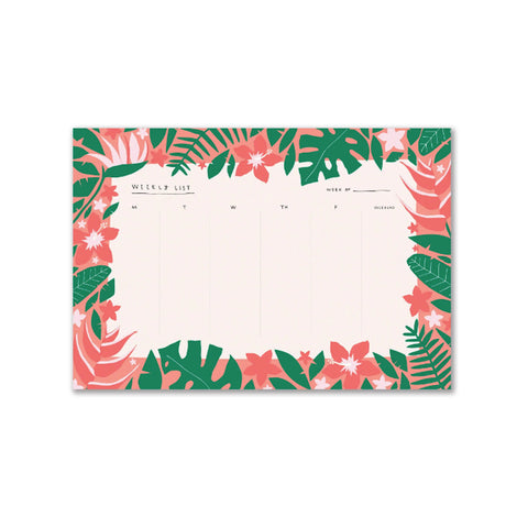 Tropical Weekly Desk Pad