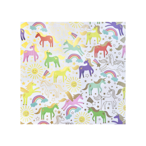 Unicorn Party Wrapping Paper Roll