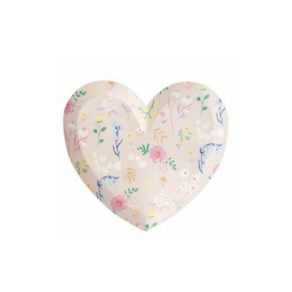 Wildflower Heart Party Plates