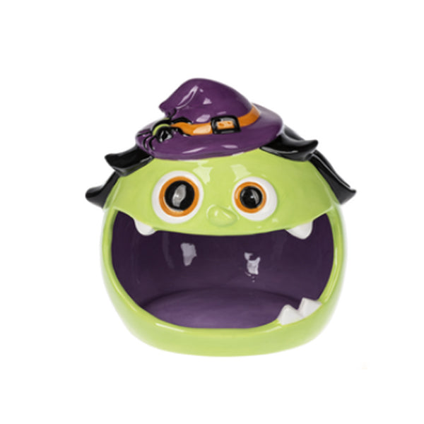 Happy Witch Ceramic Candy Dish