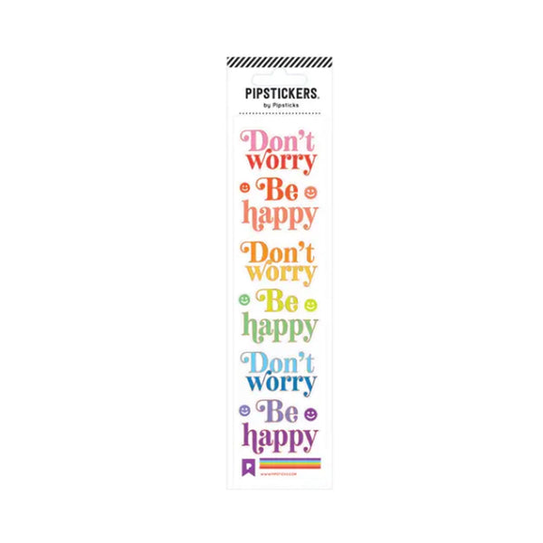Don't Worry, Be Happy Sticker Sheet