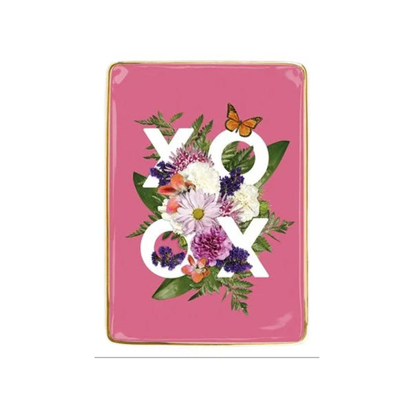 XOXO Flowers Trinket Tray