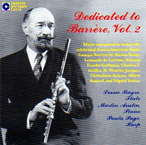 Dedicated to Barrere, Vol 2. CD (Leone Buyse, Martin Amlin, Paula Page)