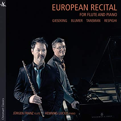 European Recital for Flute and Piano CD (Jürgen Franz)