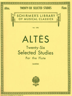 Altès, H. - Twenty-Six Selected Studies - FLUTISTRY BOSTON