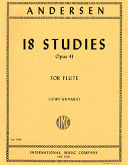 Andersen, J. - 18 Studies, Op. 41 - FLUTISTRY BOSTON