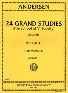 Andersen, J. - 24 Grand Studies, Op. 60: Vol I - FLUTISTRY BOSTON