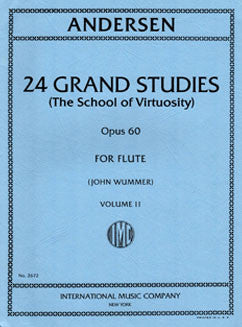 Andersen, J. - 24 Grand Studies, Op. 60: Vol II - FLUTISTRY BOSTON