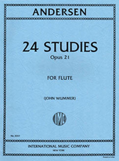 Andersen, J. - 24 Studies, Op. 21 - FLUTISTRY BOSTON