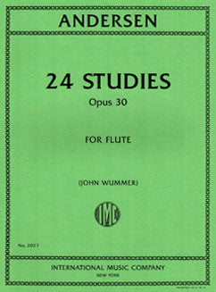 Andersen, J. - 24 Studies, Op. 30 - FLUTISTRY BOSTON