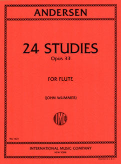 Andersen, J. - 24 Studies, Op. 33 - FLUTISTRY BOSTON